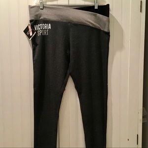 Victoria's Secret Pants - VICTORIA SPORT BLACK &GRAY LEGGINGS